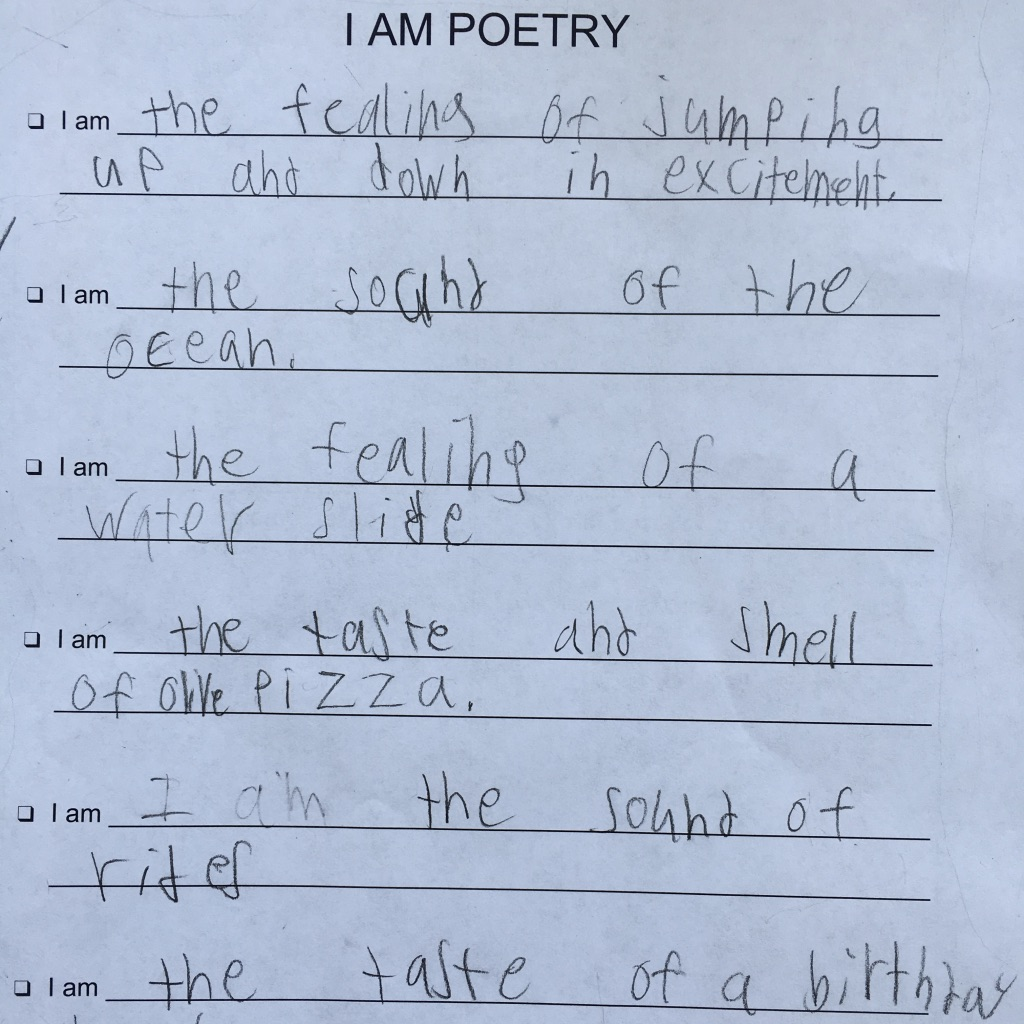 A Day With Poetry Pals -